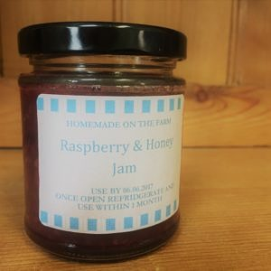 rasp and honey jam